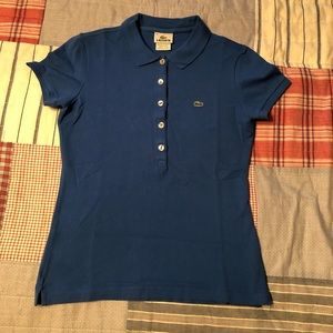 Lacoste royal blue polo